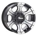 MICKEY THOMPSON Wheel - DC-2 Gloss Black - 16 x 8 in - 4.000 in Backspace - 5 x 4.50 in Bolt Pattern - Aluminum - Machined / Gloss Black Paint - Each # 90000000491