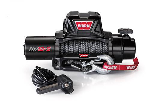 WARN Winch - 10000 lb Capacity - Hawse Fairlead - 12 ft Remote - 3/8 in x 90 ft Steel Rope - 12V - Kit # 96815