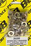 B and B PERFORMANCE PRODUCTS Flat Washer - 3/8 in ID - 5/8 in OD - 0.100 in Thick - Steel - Chromate - Universal - Set of 100 # 26200