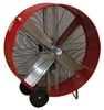 "Ventamatic MaxxAir Portable Air Circulator 48"" Belt Drive Drum Fan - 2 Speed # BF48BDRED"