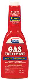 CYCLO Fuel Additive - Gas Treatment - System Cleaner - Water Remover - 12.00 oz Bottle - Gas - Each # C43