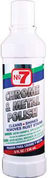 CYCLO Metal Polish - NO7 Chrome and Metal Polish - 8.00 oz Bottle - Each # 10120