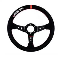 DRIVEN STEERING WHEELS Steering Wheel 13.5in Aluminum Dished Suede # DR890135S