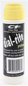 CLEAR ONE Dial-In Marker - Dial-Rite - Window - Yellow - Safe on Glass / Polycarbonate / Rubber - 1 oz Bottle / Applicator - Each # DRP2