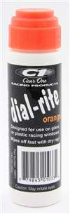 CLEAR ONE Dial-In Marker - Dial-Rite - Window - Orange - Safe on Glass / Polycarbonate / Rubber - 1 oz Bottle / Applicator - Each # DRP3