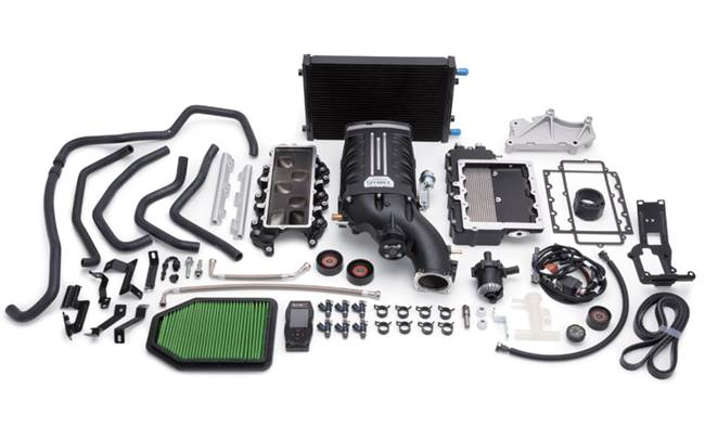 EDELBROCK Supercharger System - E-Force - TVS - Programmer - Black Powder Coat - Mopar V6 - Jeep Wrangler JK 2012-14 - Kit # 1527
