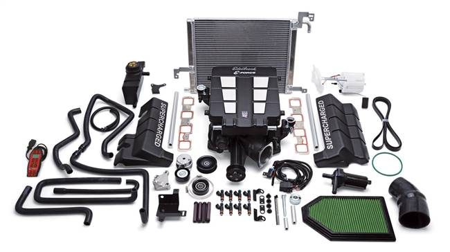 EDELBROCK Supercharger System - E-Force - TVS - Programmer - Black Powder Coat - Mopar Gen III Hemi - Chrysler LX / LC-Body 2005-14 - Kit # 1535