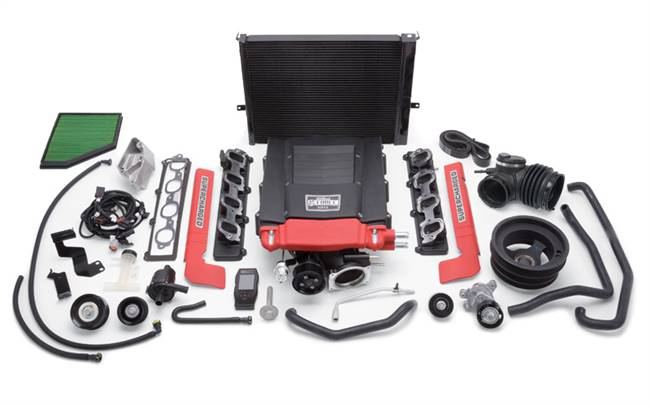 EDELBROCK Supercharger System - E-Force - TVS - Programmer - Black Powder Coat - GM GenV LT-Series - Chevy Camaro 2016 - Kit # 1559