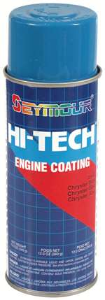 SEYMOUR PAINT Paint - HI TECH ENGINE - High Temperature - Alkyd Enamel - Chrysler Blue - 16.00 oz Aerosol - Each # EN-63