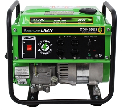Lifan Energy Storm 2,000-Watt 98cc 3 MHP Gasoline Powered Portable Generator, ES2000-CA