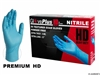 AMMEX Gloveplus, Xtra Long Xtra Thick Nitirle Gloves GPNHD 8 mil - Large