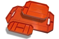 Grypmat Trio Pack Tray, Chemical Resistant, Orange, Each