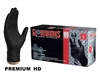 AMMEX GloveWorks, HD PF Black Nitrile Gloves with Diamond Textured Palm, 6 mil,Size XLarge