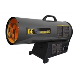 BE Pressure 125,000 BTU LPG Forced Air Heater, HL125F