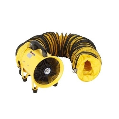 "Ventamatic MaxxAir Heavy Duty Cylinder Fan, 8"" Cylinder 900 CFM Fan with 20' Hose # HVHF08COMBO"