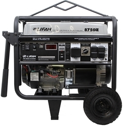 Lifan Platinum Series 8,750-Watt 420cc 15 MHP Gasoline Powered Electric Start Clean Power Portable Generator LF8750iEPL-CA