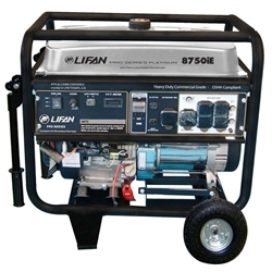 Lifan Platinum Series 8,750-Watt 420cc 15 MHP Gasoline Powered Electric Start Clean Power Portable Generator with 50A RV Plug, LF8750iEPLRV
