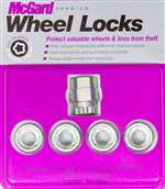 MCGARD Wheel Lock - Premium - 12 mm x 1.50 Thread - Cone Seat - Open End - Key Included - Steel - Zinc Oxide - Set of 4 # 24012