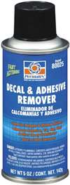 PERMATEX Adhesive Remover - Decal and Adhesive Remover - 5.00 oz Aerosol - Each # 80025