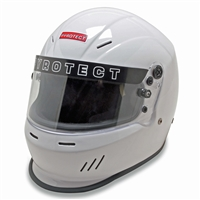 PYROTECT Helmet, Ultra-Sport Duckbill, Snell SA2015, Head and Neck Support Ready, White, Small, Each