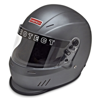 PYROTECT Helmet, Ultra-Sport Duckbill, Snell SA2015, Head and Neck Support Ready, Gray, Small, Each