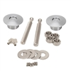Quik-Latch QL-50-LP Brushed Aluminum Low Profile Hood Pins