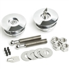 "Quik-Latch QL-50L-LP-P - Lockable Low-Profile Hood Pin Set Polished 2.5"" Diameter"