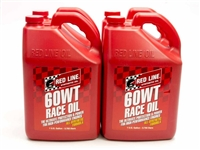 REDLINE OIL Motor Oil, 60WT Race Oil, High Zinc, 20W60, Synthetic, 1 gal, Set of 4