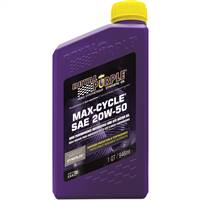 ROYAL PURPLE LTD Royal Purple Max Cycle 20W50 High Performance Synthetic Motorcycle Oil - 1 Quart Bottle (French Label) # 21316
