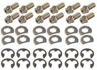 STAGE 8 FASTENERS Header Bolt - Locking - 3/8-16 in Thread - 0.750 in Long - Hex Head - Steel - Nickel Plated - GM V6 / Small Block Chevy - Set of 12 # 8911