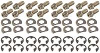 STAGE 8 FASTENERS Header Bolt - Locking - 3/8-16 in Thread - 0.750 in Long - Hex Head - Steel - Nickel Plated - Small Block Ford - Set of 16 # 8913