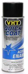 VHT Paint - Quick Coat - Enamel - Flat Black - 11.00 oz Aerosol - Each # SP510