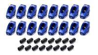 SCORPION PERFORMANCE Rocker Arm - Race Series - 3/8 in Stud Mount - 1.6 Ratio - Full Roller - Aluminum - Blue Anodize - Oldsmobile V8 - Set of 16 # 1050