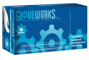 AMMEX GloveWorks, Powder Free Latex Disposable Gloves TLF 5mil - Medium - Case of 1000