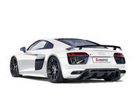 Akrapovic 16-17 Audi R8 5.2 FSI Coupe/Spyder Slip-On Line (Titanium) w/ Carbon Titanium Tips # S-AUR8SO3-T