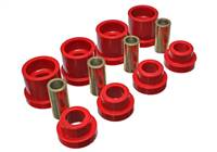 Energy Suspension 95-98 Nissan 240SX (S14) Red Rear Subframe Insert Set (Must reuse all metal parts) # 7.1117R