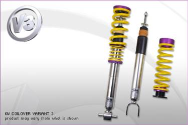 KW Coilover Kit V3 Porsche 911 (964) Carrera 2; incl. Convertible + Targa # 35271011