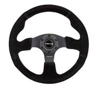 NRG Reinforced Steering Wheel (320mm) Suede w/Black Stitch # RST-012S