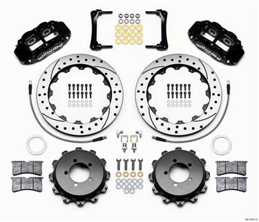 Wilwood Narrow Superlite 4R Rear Kit 12.88in Drilled 2012-Up Toyota / Scion FRS w/Lines # 140-12871-D