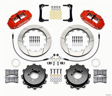 Wilwood Narrow Superlite 4R Rear Kit 12.88in Red 2008-2012 Subaru WRX w/Lines # 140-12877-R