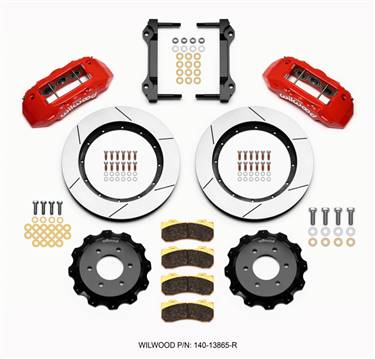 Wilwood TX6R Front Kit 15.50in Red 2010-Up Ford F150 (6 lug) # 140-13865-R
