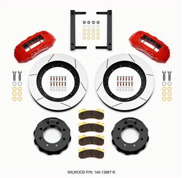 Wilwood TX6R Front Kit 16.00in Red 2005-2012 Ford F250/F350 4WD # 140-13867-R