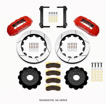 Wilwood TX6R Front Kit 16.00in Red 1999-2014 GM Truck/SUV 1500 # 140-13876-R