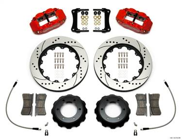 Wilwood Narrow Superlite Red 6R Front Kit 14in Drilled Rotor w/ Lines 05-15 Toyota Tacoma # 140-14578-DR