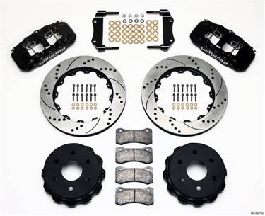 Wilwood AERO4 RearTruck Kit 14.25in Drilled 1999-2010 GM 1500-SUV 1 Piston OE Caliper # 140-9407-D