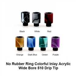 Friction Fit Acrylic Inlay Wide Bore Drip Tip