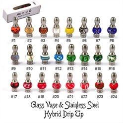 Glass Vase & Stainless Steel Hybrid Drip Tip