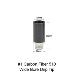 Carbon Fiber #1 510 Wide Bore Drip Tip