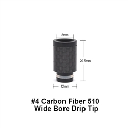 Carbon Fiber #4 510 Wide Bore Drip Tip