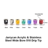 Acrylic & Stainless Steel Shorty Wide Bore Drip Tip